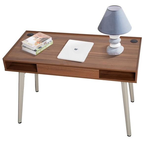 Working desk 47 inch retro with drawer computer table writing workstation office for home