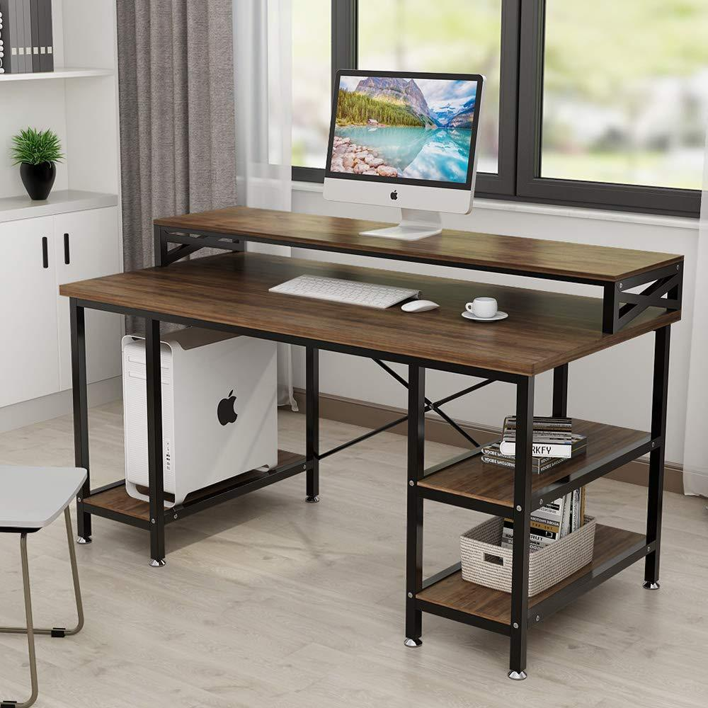 - Computer Desk With Hutch 55