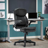 High back chair home office leather computer desk executive ergonomic adjustable seat with comfortable