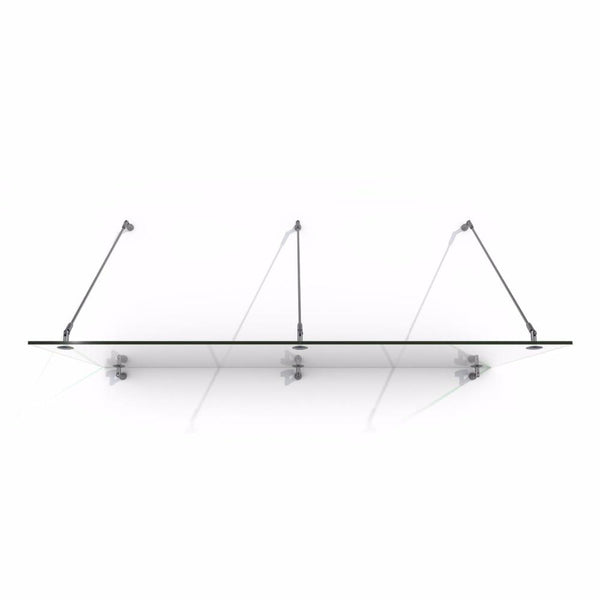 Glass door rods poles laminated tempered stainless steel canopy brackets modern