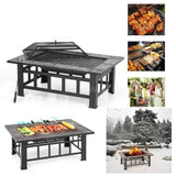 Bbq grill garden brazier with cover outdoor heaters