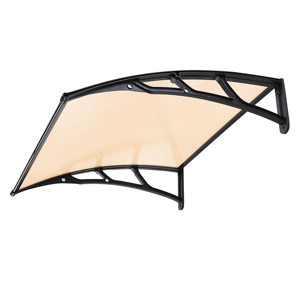 "Awning 2pcs 40"""" window door sun shade canopy pc sheet uv rain protection"