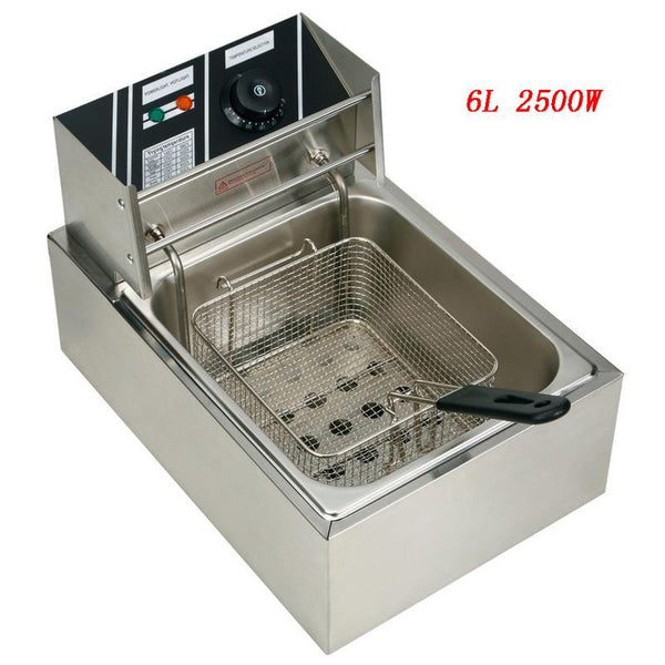 Electric deep fryer 2.5kw 60hz multifunction stainless steel grill oven chicken french fries oil frying machine pot