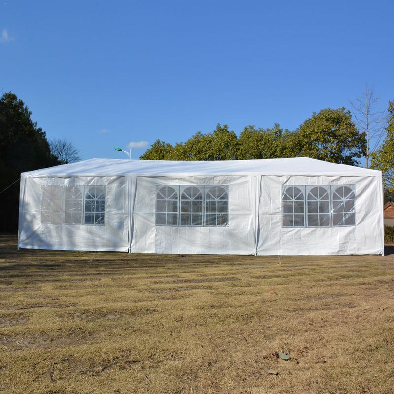 Eight sides tent 3 x 9m  two doors waterproof with spiral tubes