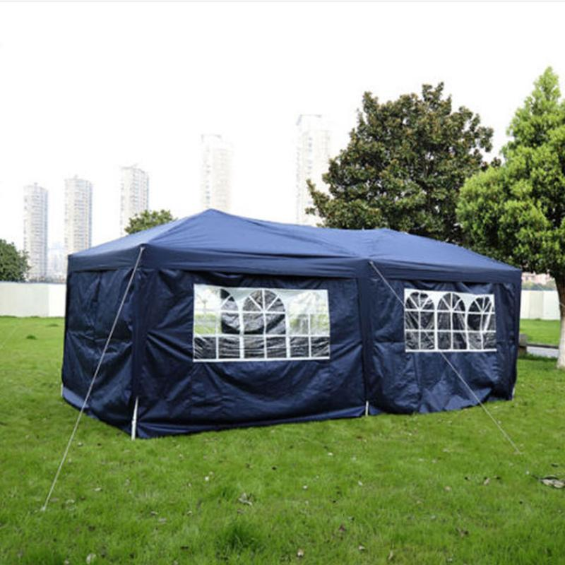 Four windows tent 3 x 6m practical waterproof folding