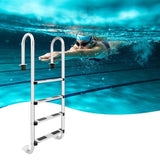4 step ladder stainless steel in-ground swimming pool equipment anti skid suit 157cm height