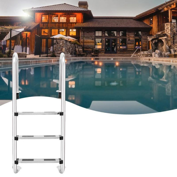 Stainless steel swimming pool ladder in-ground equipment anti skid suit 3/4 steps courtyard ladders