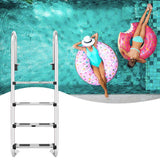 3/4 step ladder 304 stainless steel in-ground swimming pool equipment anti skid