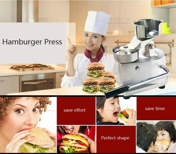 Meat press machine hamburger maker manual patty burger diametre 130mm & poultry tools