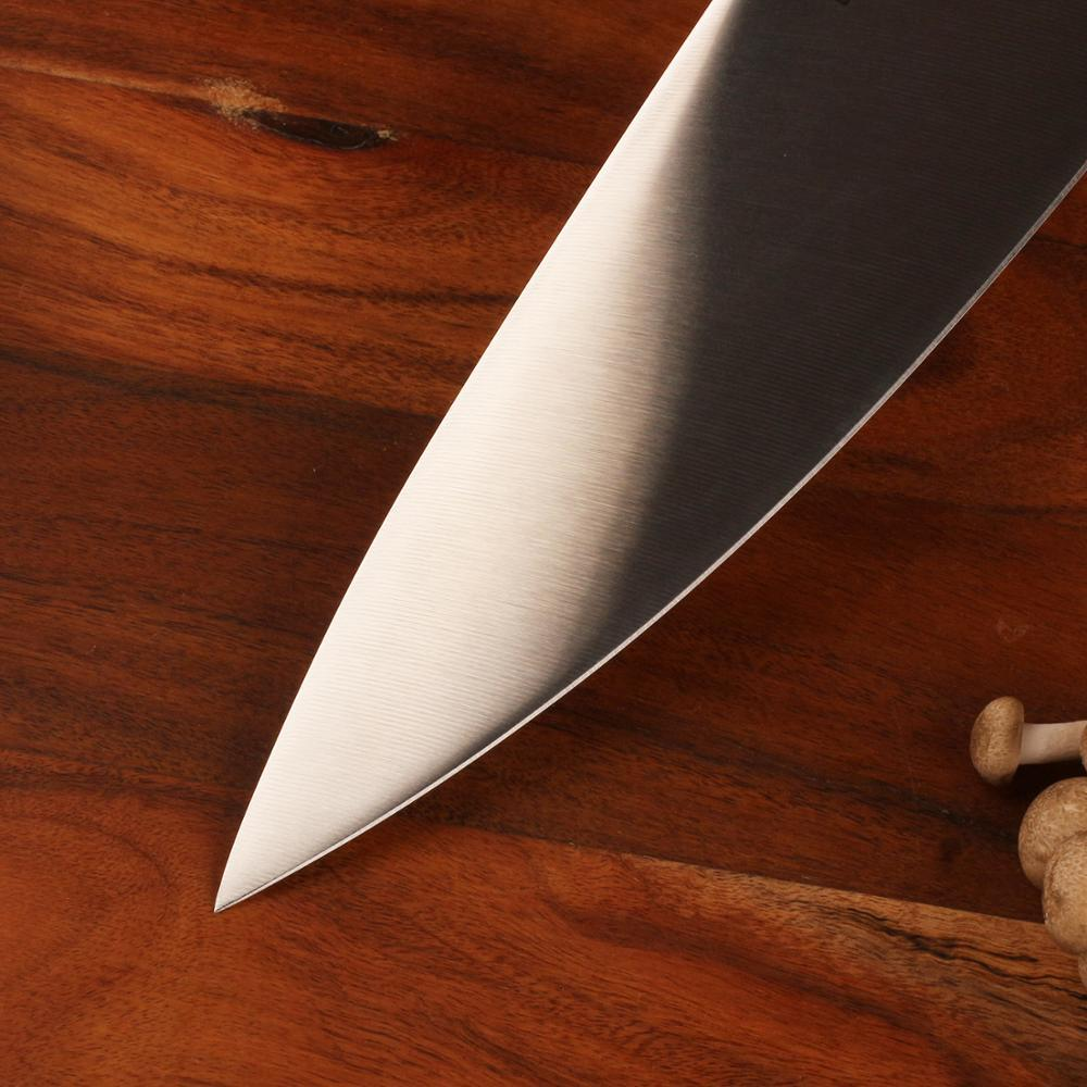 "Chef knife 8"""" inches liquid metal blade sharp kitchen handle 70hrc strong hardness meat cutting tool"