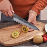 "Chef knife 8"""" inch damascus steel kitchen japanese vg10 core blade sharp exquisite g10 handle chef's cooking"