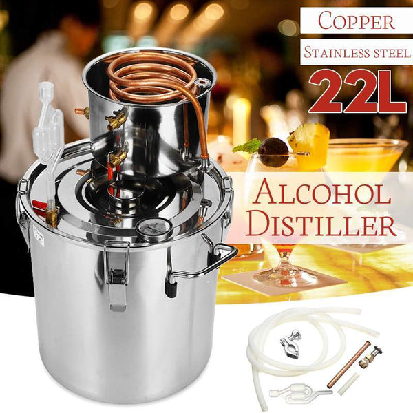 Home distiller 5 gal/20L diy whisky moonshine alcohol stainless copper water wine essential oil brewing kit