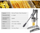 Manual potato chips maker squeezer aluminum alloy french fries long cutting machine dough food processors