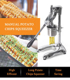 Potato chips maker machine manual american fried french fries cutter for household commerical 30cm long
