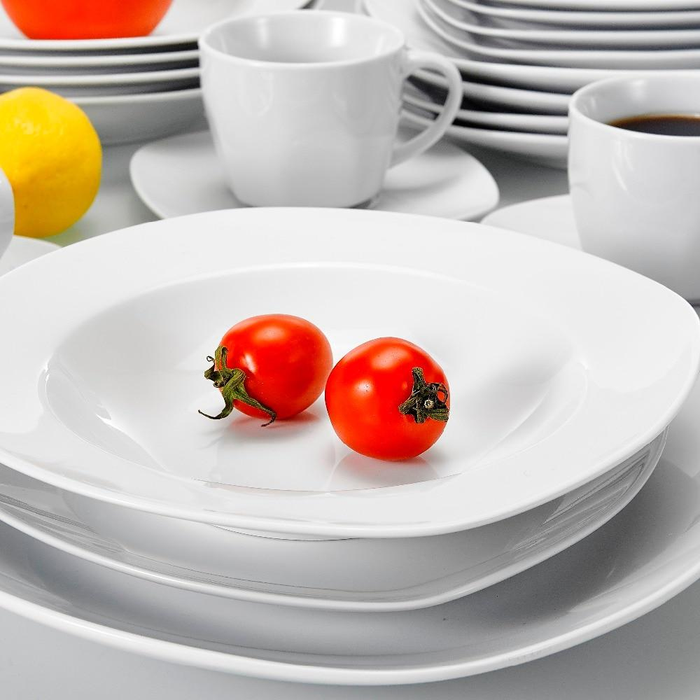 Porcelain dinner set 30-piece kitchen with cups saucers dinner soup dessert plates dishes sets for 6 person
