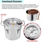 Home distiller 8l wine beer alcohol moonshine diy brewing kit copper equipment
