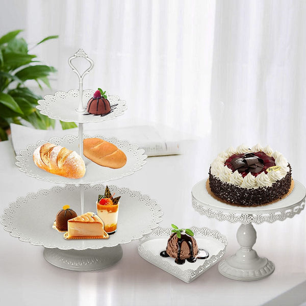 Dessert tray mirror surface 7pcs/set wedding cake stand party birthday decoration pan cookies display