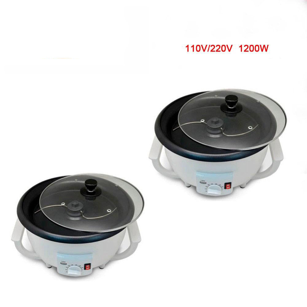 Electric coffee roaster 2pcs home machine 110v/220v 1200w household bean roasting baking for small cafe