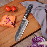 Kitchen knife set 3pcs damascus santoku chef paring japaness vg10 steel g10 handle meat cutter utility
