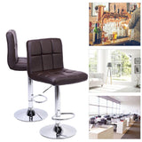 Bar chairs 2pcs modern backrest office cafe furniture kit rotation stool no armrest coffee 60-80cm