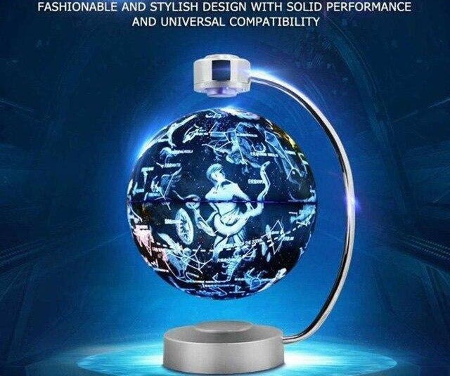 Magnetic levitation globe 8 inch with LED light electronic floating home bedroom study room decoration us eu uk au plug