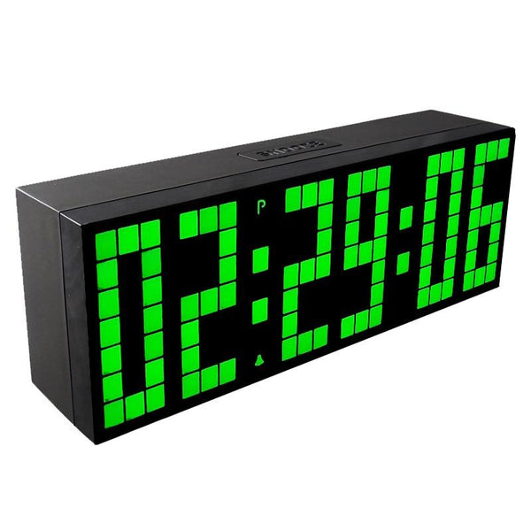 LED digital clock table wall snooze alarm large temperature calendar desk atmos countdown room
