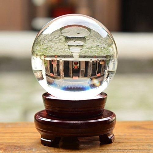 Crystal ball 180mm rare clear asian quartz feng shui sphere table decor good luck