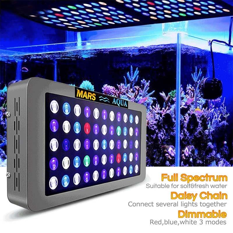 Aquarium  lighting 165w dimmable LED for marine coral reef sps/lps