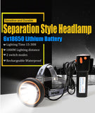 Headlight super bright powerful headlamp rechargeable flashlight forehead waterproof head torch LED for hunting fishing