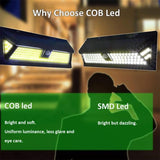 LED light cob solar motion sensor wall 4 pack 180 waterproof garden lamp wide angle outdoor