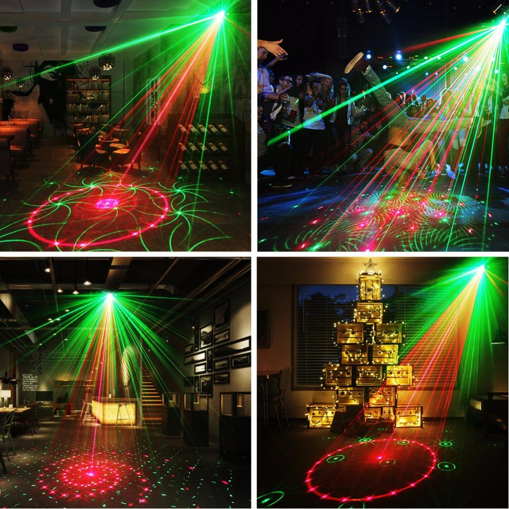 Laser light suny 24 rg patterns blue LED stage sound activated projector show for club bar dj disco home party(z24rg)