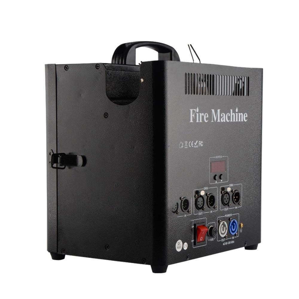 Stage triple way flame projector dmx fire machine outdoor dj flame 5 channels valve lcd display