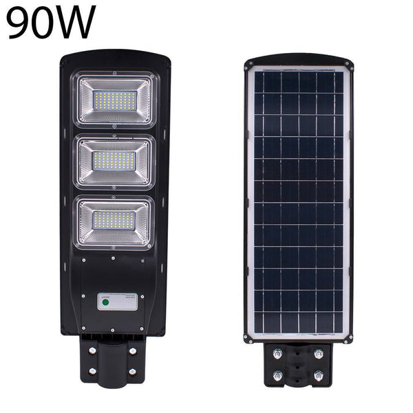 LED street light outdoor 90w solar lamps radar pir motion sensor waterproof ip67 wall landscape garden 180