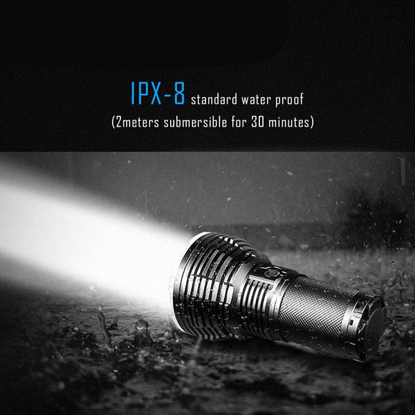LED flashlight powerful with magnet 2350 lumens waterproof torch rechargeable
