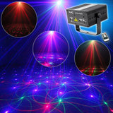 Laser projector 80 rg patterns light galaxy LED ripple wave gobos stage party dj disco xmas