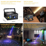 Laser light suny 24 gb patterns blue LED stage sound activated projector show for club bar dj disco home party(z24gb)