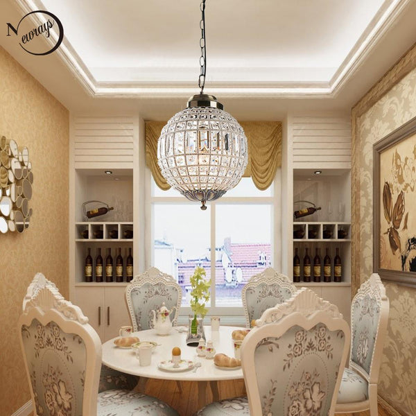 Chandelier vintage royal empire ball LED crystal modern lamp lustres lights e27 for living room bedroom lobby restaurant hotel