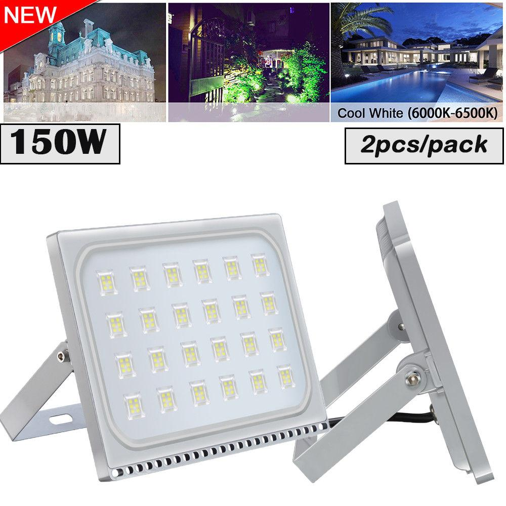 LED floodlight 2pcs ultraslim 150w outdoor security 110v 220v waterproof ip65