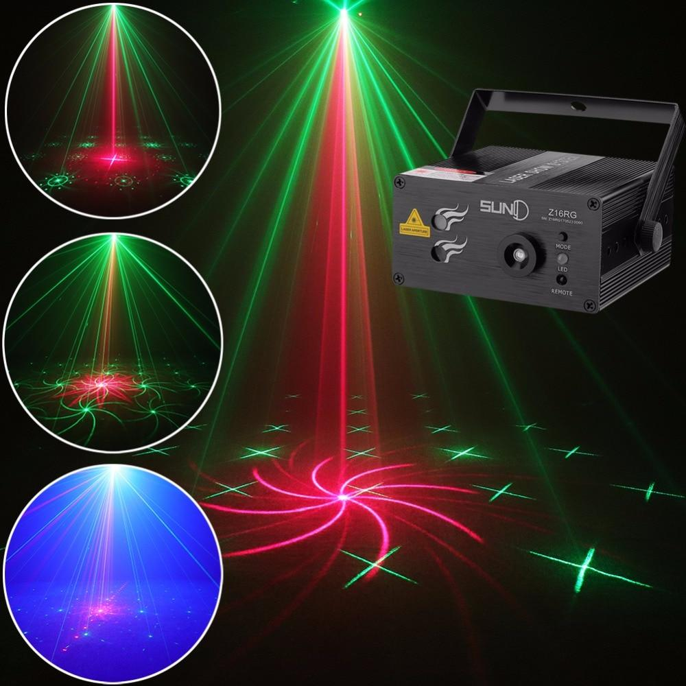 Laser light suny 16 rg patterns blue LED stage sound activated projector show for club bar dj disco home party(z16rg)
