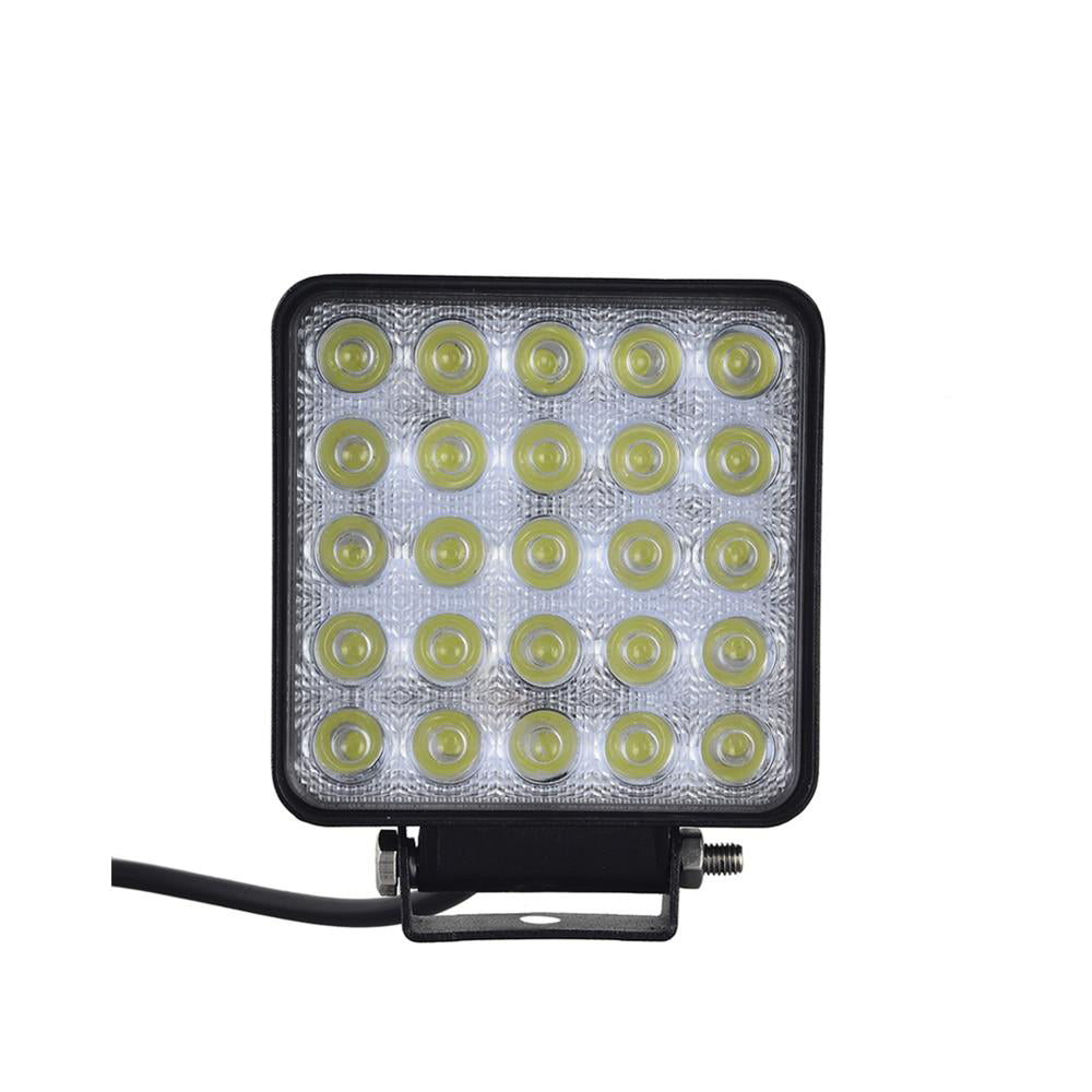 LED spotlight 10pcs car work light square 75w 12v 25*3w ip67 outdoor lighting for suv truck boating hunting fishing spot lamp