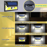 LED light cob solar motion sensor 4 pack 76 wall waterproof garden lamp wide angle outdoor