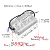 LED driver constant current 4500ma 6-10x15 dc18-34v 4.5a 120w 150w ip67 ac100-240v waterproof power supply lighting transformer