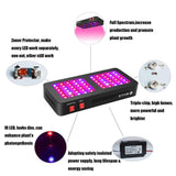 LED grow light 600w reflector full spectrum plant lamp fitolampy