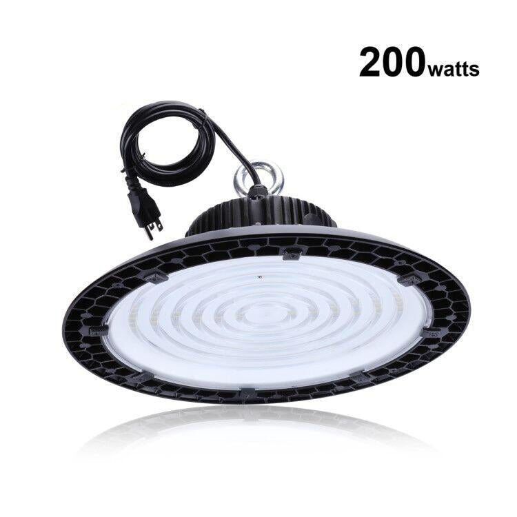 LED high bay light etl certified 200w ufo replacement for 800w hid/hps 5000k daylight white ip65 warehouse lighting