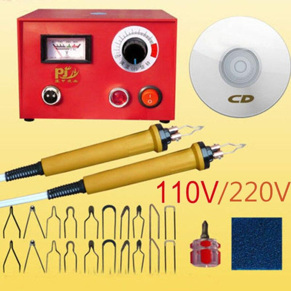Pyrography machine 50w multifunction wood burning pen gourd wooden suit 2pcs pen+20 pcs blade