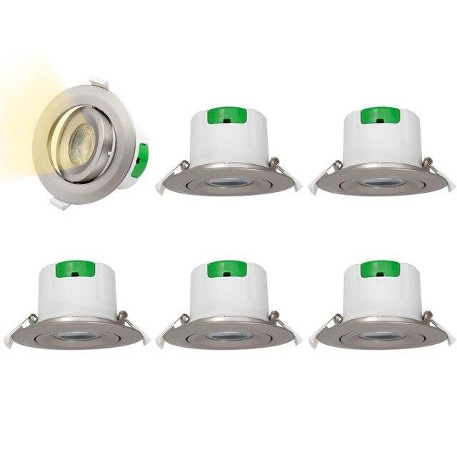 LED lamps recessed ceiling spot 3 inch nickel plated directional spotlight downlights 9w 5000k white hole diameter 85-90mm
