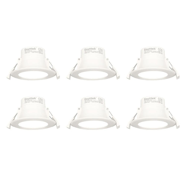 LED downlights small recessed ceiling 8w diameter 70-85mm white 5000k 240v 6 pack