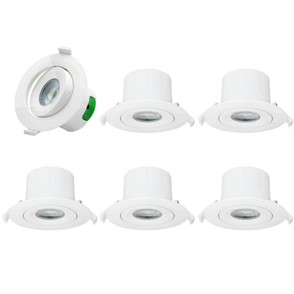 LED recessed lights ceiling spot directional can downlights 3 inch beam angle white ac100~240v hole dia 85-90mm