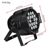 Stage lighting 2pcs 18x18w 6in1 uv LED par light dmx 512 dj wash