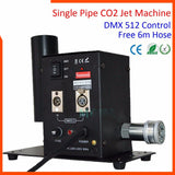 Special effects dmx512 co2 jet cannon machine single pipe disco blasterwith 6m hose